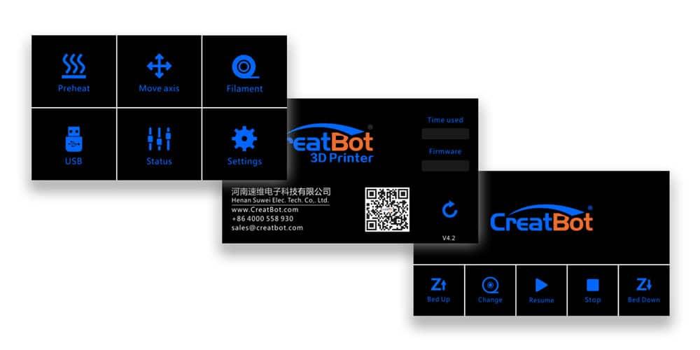 CreatBot D600 Touch Screen